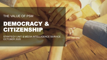 The Value of Public Service Media: Democracy and citizenship casebook