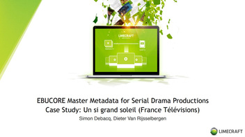 EBUCORE master metadata project for serial drama productions
